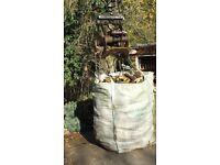 Quality seasoned hardwood firewood delivered in bulk bags