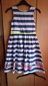 Striped summer dress, age 8-9years, 134cm