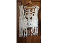Almost new Boho Chic Crochet Vest