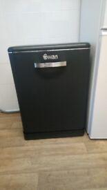 SWAN black dishwasher