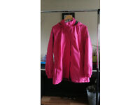 TargetDry Women's Fuchsia Rain Jacket Size L 16