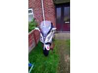 Loveley sym joymax125i few scratches on exhaust pipe and fairings