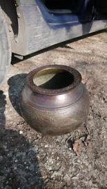 large antique bronze pot