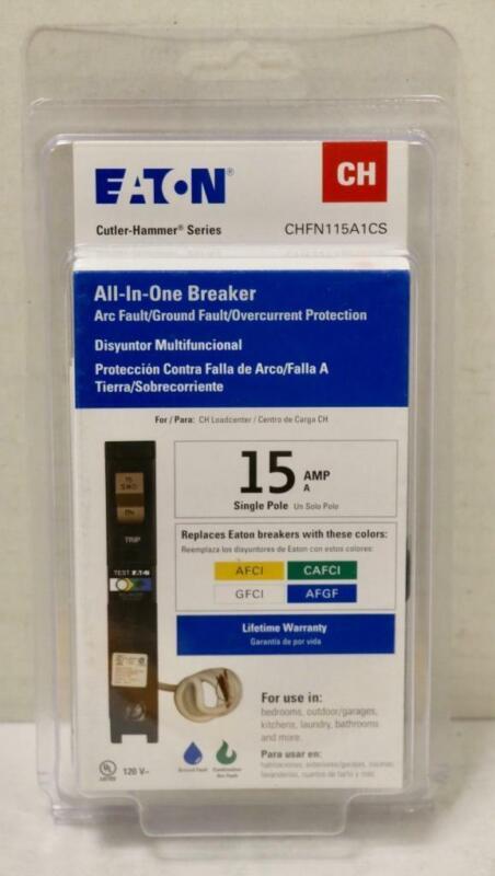 NEW - Eaton CHFN115A1CS CH-Type 15-Amp Single Pole Circuit Breaker