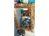 Outstanding antique rococo large chunky mirror