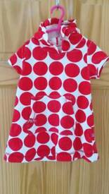 Girls after bath towelling dress size 2 years
