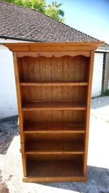 Quirky, reclaimed furniture, bookcase and tv cabinet, different but elegant style