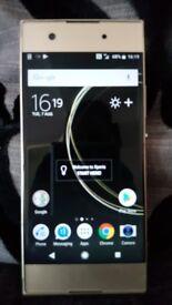 Sony experia xa1 gold excellent condition