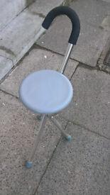 Handy travel stool umbrella handle. camping or festivals etc