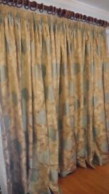 Stunning, high quality, satin type, lined curtains. Custom made. Suitable for any living space.