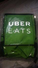 New Uber eats or deliveroo bag pizza food