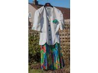 Skirt and matching jacket