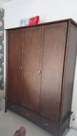 Triple wardrobe mahogany for sale