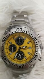 PULSAR mens alarm chronograph watch boxed in good condition