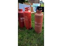 3x 47 kg 1x18.5kg empty gas bottles.