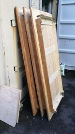 3 x Rustic wooden tables *1 leg missing