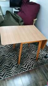 Small drop leaf table 68cm x 120cm