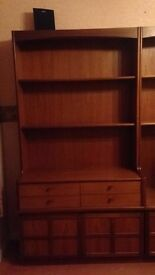 Nathan Teak furniture/ cabinets/ sideboard/ unit 6pcs