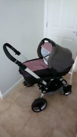 Jane 3 in 1 travel pram,buggy,car seat,isofix base and extras in immaculate condition