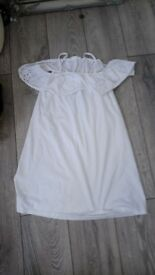 White of the shoulder dress ,size 14