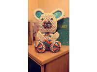 origami teddybear/handmade