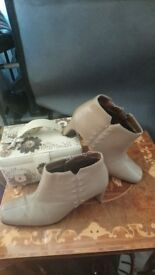 Ladies leather mink wallis boots heels snow fashion smart elegant immaculate stunning work 5