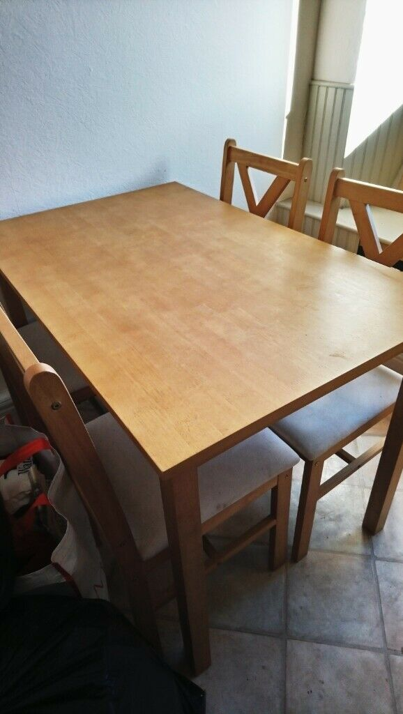 Dining Table And Four Chairs Perth