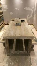 Bespoke chubby chic dining table made to order