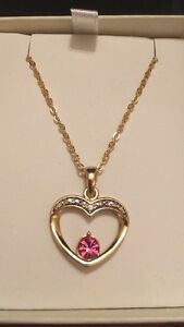 Yellow Gold Plated Chain and Pendant with Swarovski Element