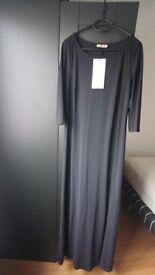(S) La Dress by Simone Jersey lycra maxi dress (Black) - new, never worn