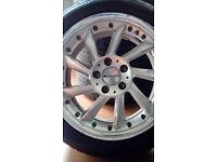 """17"""" Ace Turbine Alloys Alloy Wheels 5x112 225/45/17 Tyres Mercedes May Fit Audi VW"""