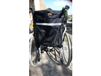 Wheelchair; Manually Propelled With Handles. Roma Avant model, with Bag/Crutch Holder