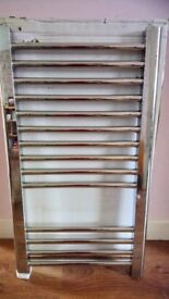 Towel Radiator , flat chrome, STILL IN BOX . ,height 700mm , width 400mm.