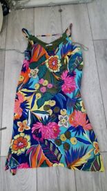 Vibrant summer dress. Size 10