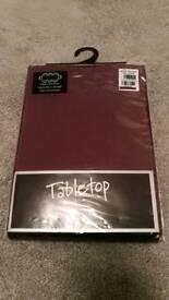 Maroon Thomas Frederick Tablecloth - Brand New