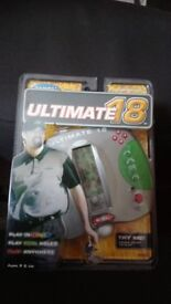 ULTIMATE 18 ELECTRONIC GOLF GAME NEW SEALED.