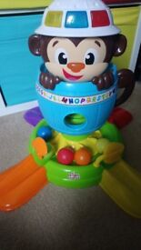 Bright stars hide and spin monkey toy