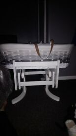 Moses Basket and stand excellent condition!