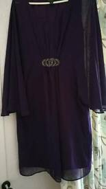 Beautiful purple chiffon knee length dress 12