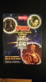 STAR WARS TAZOS COMPLETE SET IN FOLDER