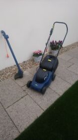 Lawnmower and strimmer hardly used