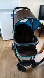 Puchchaor 6month old ..with rain cober car seat and carry cot new not used still in bag ......