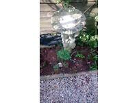 Garden ornament Old stone bird bath