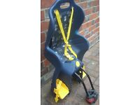 childs bike seat Babyguard post mounted chair to carry a baby or toddler on a bicycle