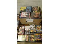A joblot of 100 dvds. Free postage