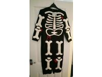 New! 9-10 years skeleton Halloween costume, comes with skeleton gloves. I have other costumes too.
