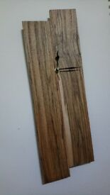 Handmade rustic reclaimed pallet wood wall clock - 51.5x17x2.8cm - unique / one of a kind