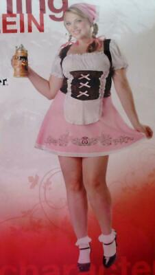 BEER WENCH Tavern Maiden Halloween Costume SEXY MINI DRESS 1x 18 20 PLUS SIZE 2X - Beer Wench Costume Plus Size