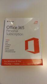 Microsoft Office 365, 1yr Personal Subscription, Windows & Mac