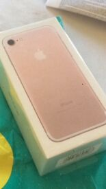 iPhone 7, unlocked, 32g rose gold